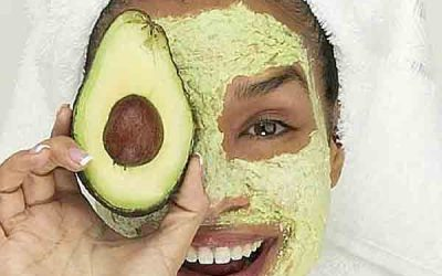 Rub avocado's over what?